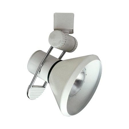 PLC TR202 SN 2.50 x 4.50 in. 120V Track Accessories 1 Light 120V Track Lamp Shade Ceiling Light, Satin (Qf3 Sp18 Sn Satin)