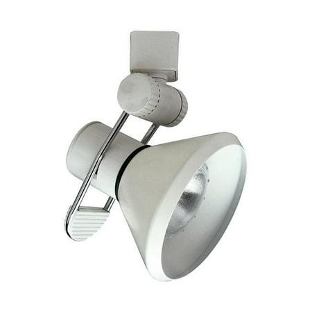 PLC TR202 SN 2.50 x 4.50 in. 120V Track Accessories 1 Light 120V Track Lamp Shade Ceiling Light, Satin Nickel ()