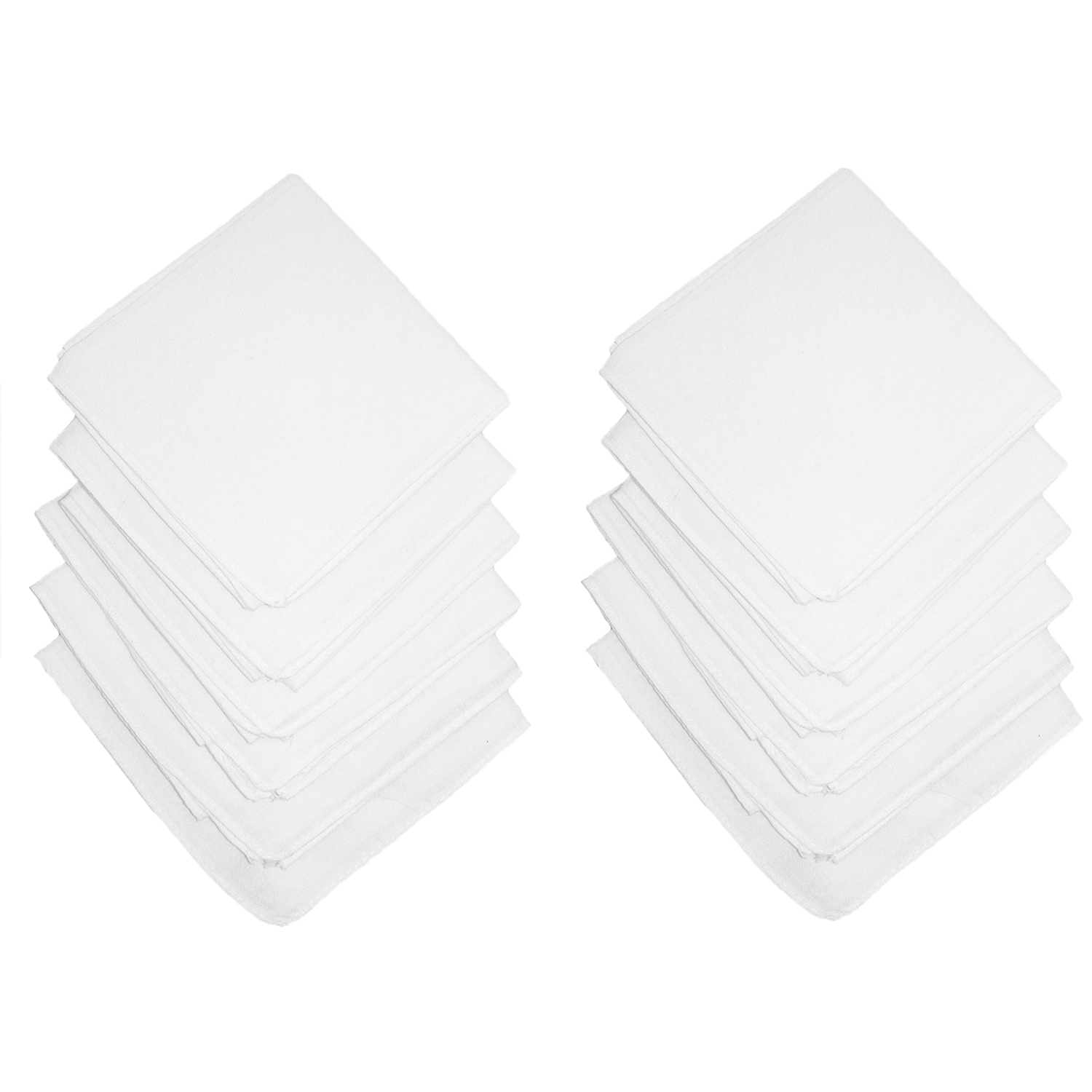Axxents Cotton White Handkerchiefs (Pack of 12)White