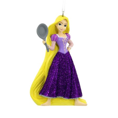 Disney Tangled Rapunzel Holiday Ornament, Figural ornament features high-quality resin craftsmanship with beautifully detailed paintwork. By Hallmark (Holiday Figurals)