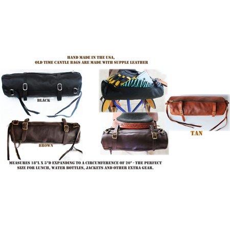 Horse Leather Cantle Saddle Bag Trail Riding Western or Endurance Brown (Endurance Horse Saddles)