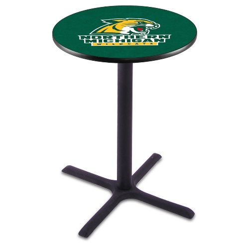 NCAA Pub Table by Holland Bar Stool, Black - NMU Wildcats...