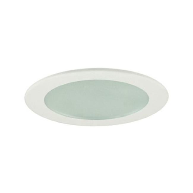 Jesco Lighting TM209CH Flat Shower Trim With Frosted Glass, Chrome - image 1 of 1
