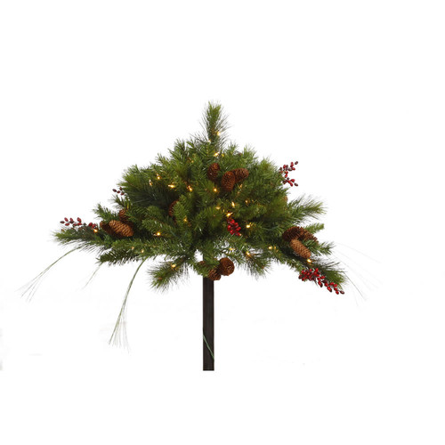 Vickerman Mixed Berry Cone Urn Filler with 50 Lights
