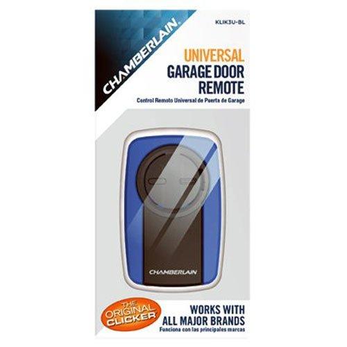 Clicker Blue Universal Garage Door Remote, Waterproof Residential held Ceiling Volt 3089 Black Multicode Visor Training KLIK3UBL PKCELL Pack 96.., By Chamberlain