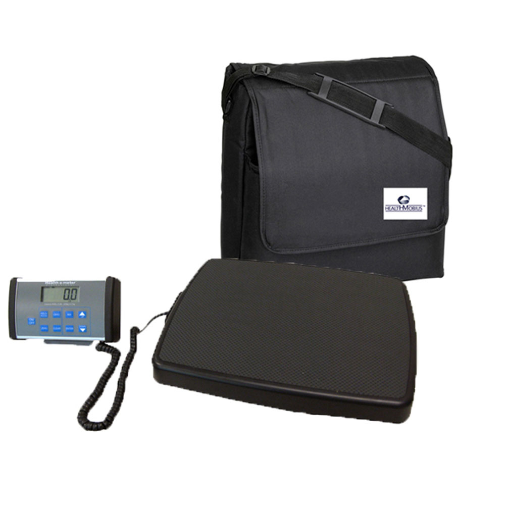 HealthOMeter 498KL Digital Medical Weight Scale and Carrying Case