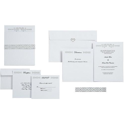 wilton wedding invitation kit, heart 25 ct. 1008-1533 - walmart, Wedding invitations