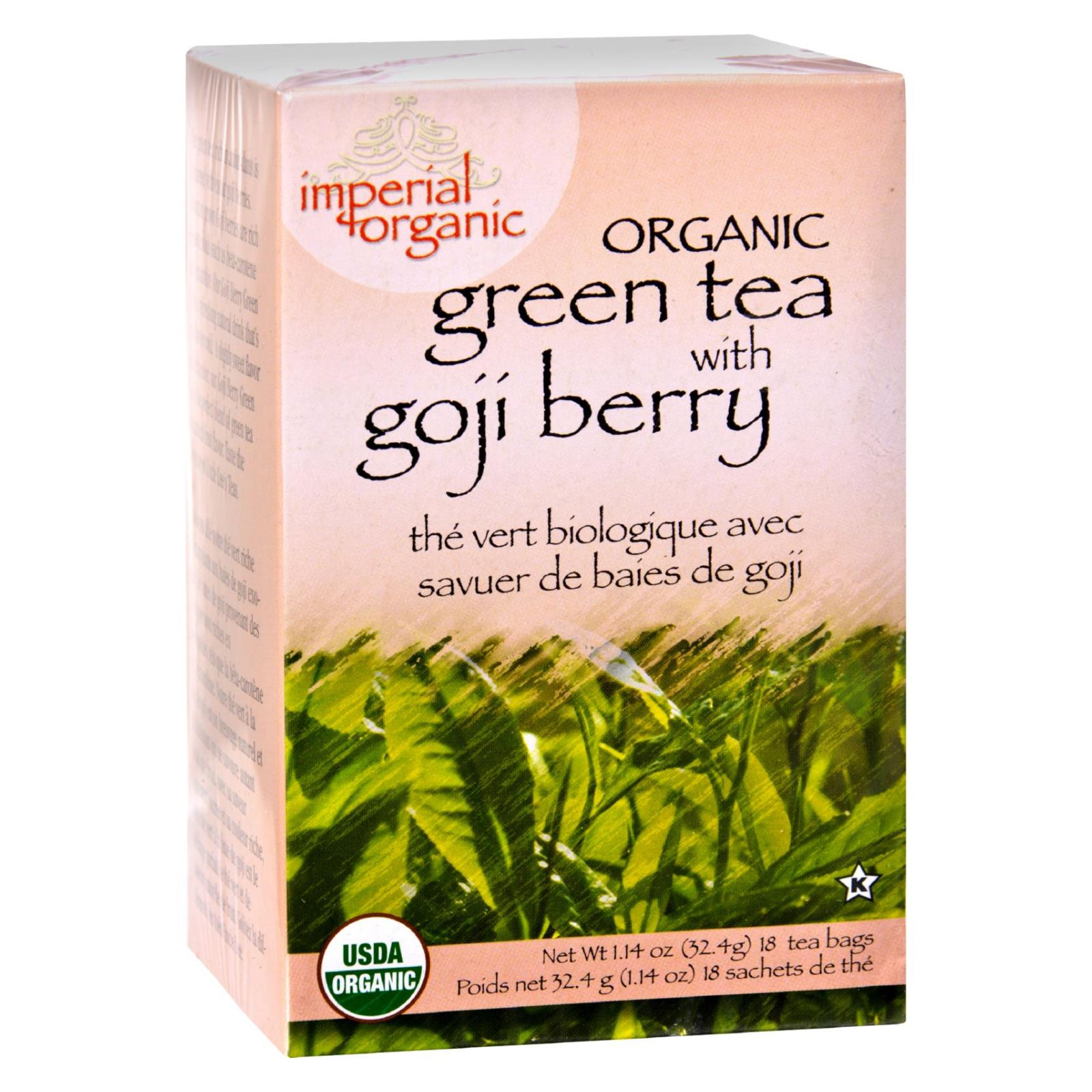 Uncle Lee S Imperial Organic Green Tea With Goji Berry 18 Bags