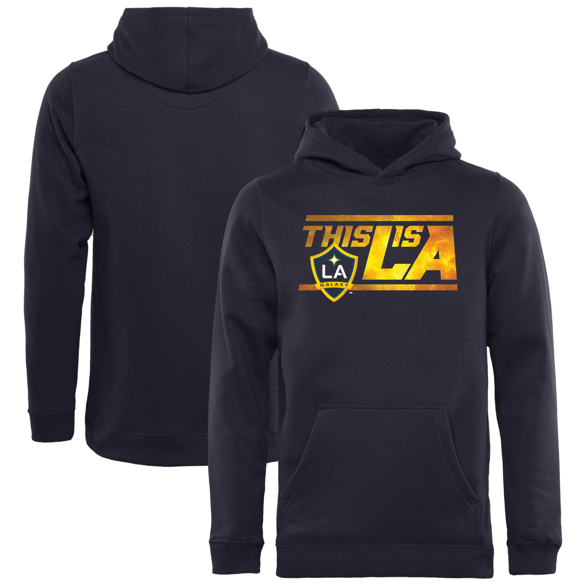 LA Galaxy Fanatics Branded Youth Hometown Distance Pullover Hoodie - Navy