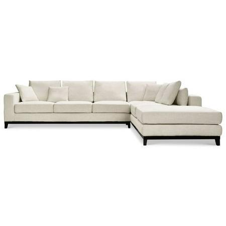 Capsule Home Kellan 2 Piece Linen Sectional Sofa