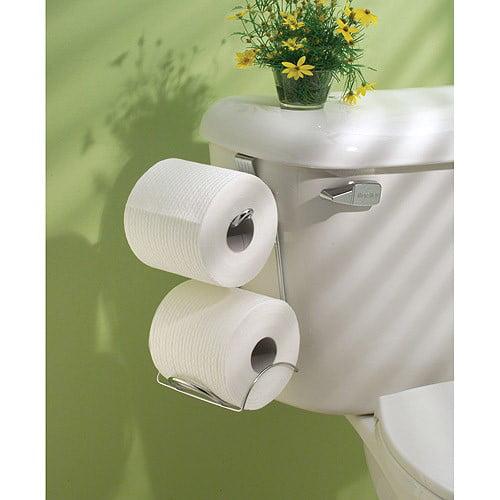 InterDesign Classico Over-The-Tank Tissue Holder, Chrome - Walmart.com