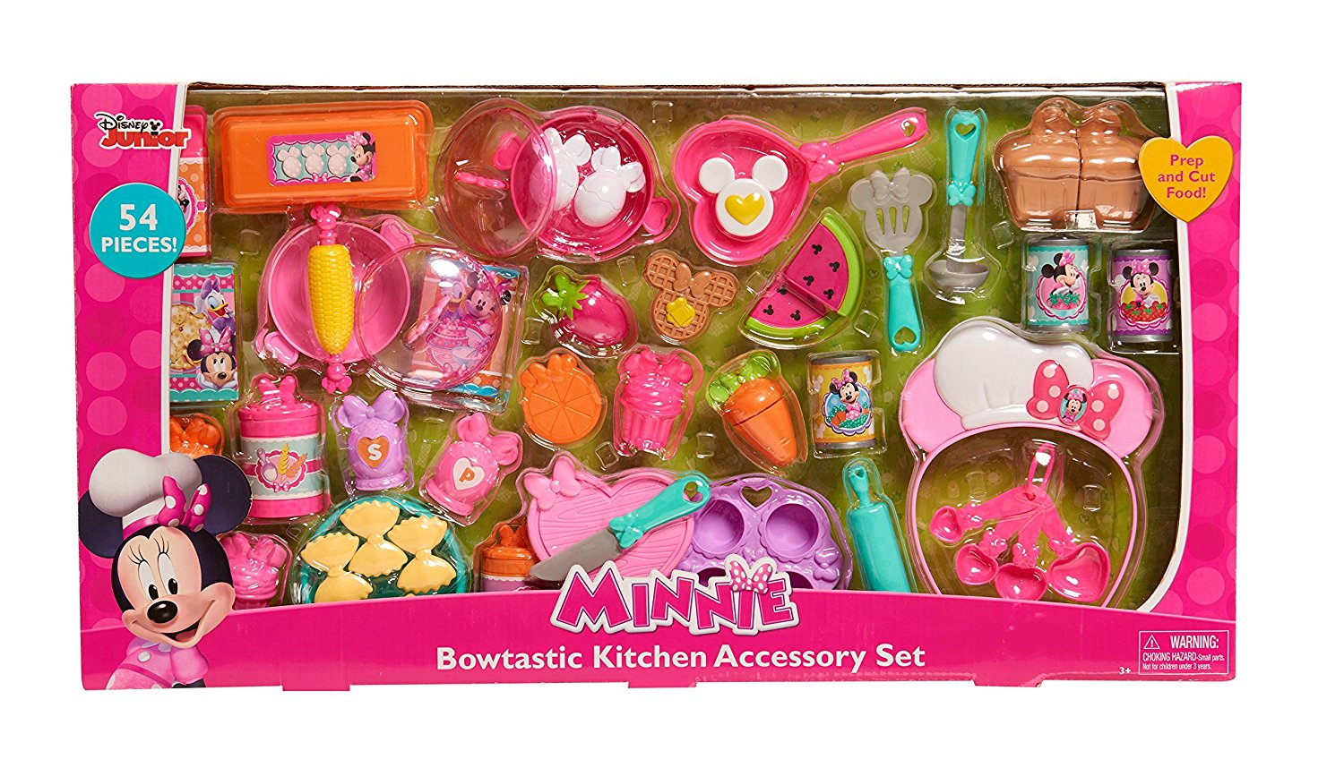 Just Play Bow Tique Bowtastic Kitchen Accessory Set, .� Features tons of Minnie-inspired play cutting food... by