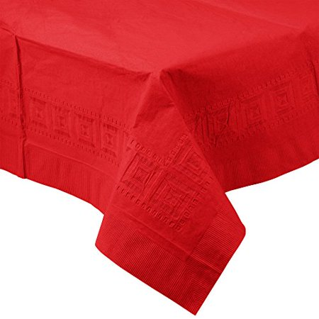 Poly Tissue Table Cover (Perfectware Table Covers Red-3 Disposable Table Covers Red 2-Ply Tissue and 1-Ply Poly, 0.1