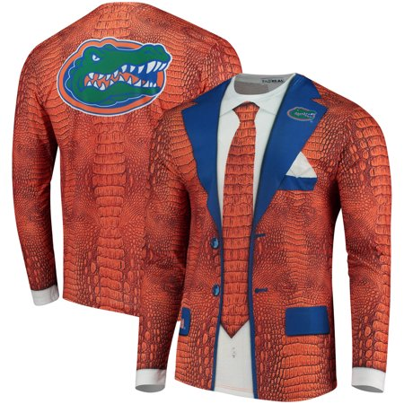 Crazy Football Fan Halloween Costume (Florida Gators Faux Real Suit Long Sleeve T-Shirt -)