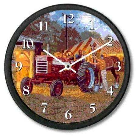 New Dave Barnhouse Horse Power Tractor Wall Clock 10