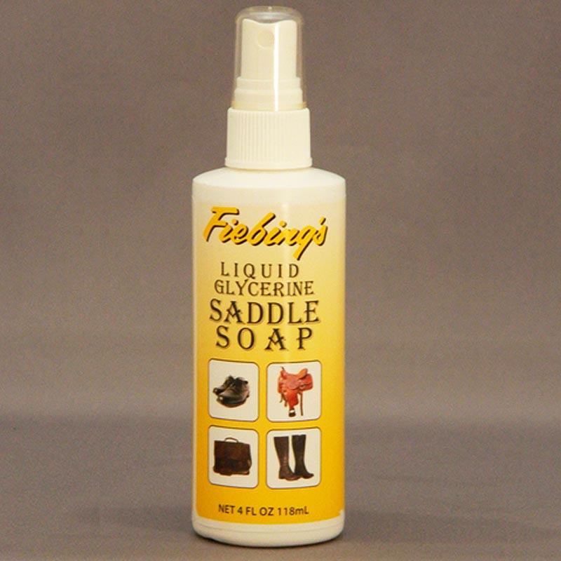 FIEBINGS FOAMING LIQUID GLYCERIN SADDLE SOAP FOR CLEAN FINISH LEATHER 4OZ