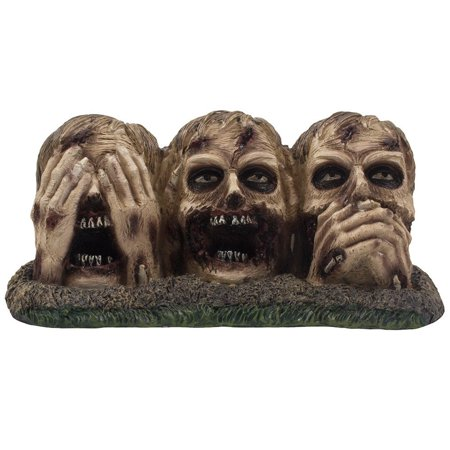 No Evil Zombies Figurine for Spooky Halloween Decorations and Scary Graveyard Statues & Creepy Medieval Undead Home Decor Sculptures As Decorative Gothic Gifts,.., By Home 'n Gifts for $<!---->
