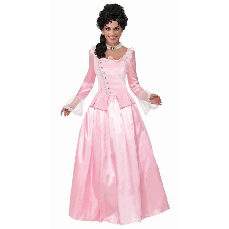 Colonial Halloween Costumes Adults (Halloween Colonial Maiden Pink Adult)
