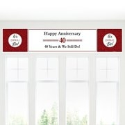 We Still Do - 40th Wedding Anniversary Party Decorations Party Banner