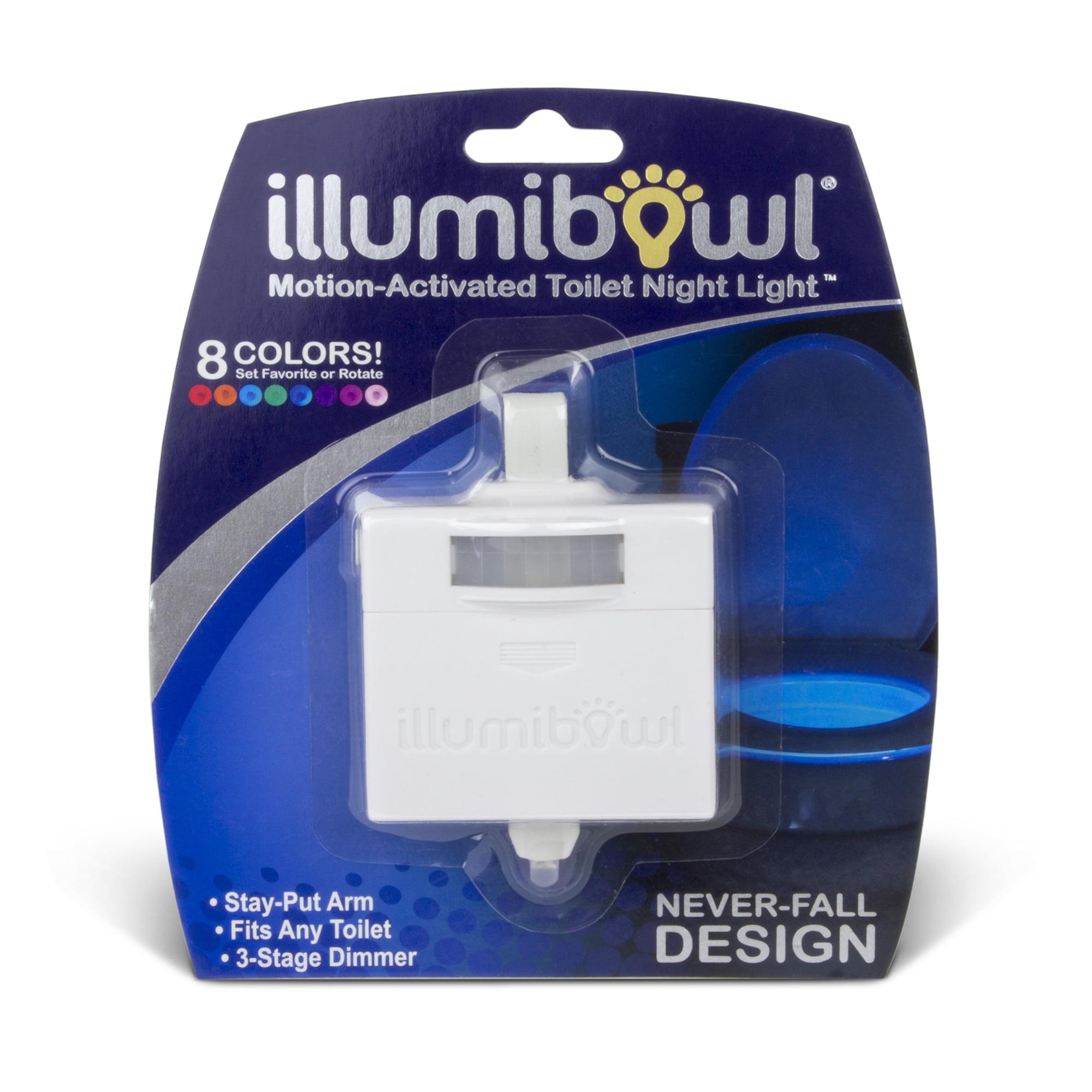 Illumibowl Motion-Activated Bathroom Light, Multi-Color LED
