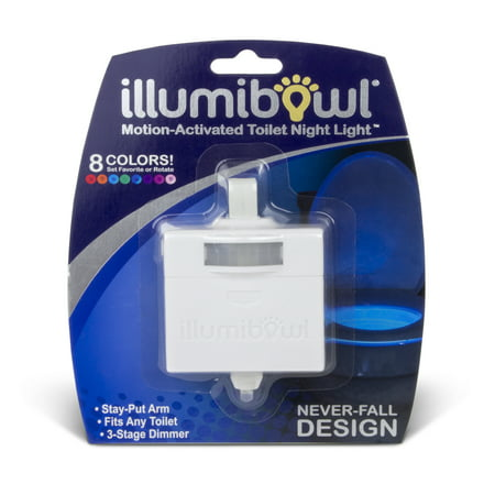 Illumibowl Motion-Activated Bathroom Light, Multi-Color LED