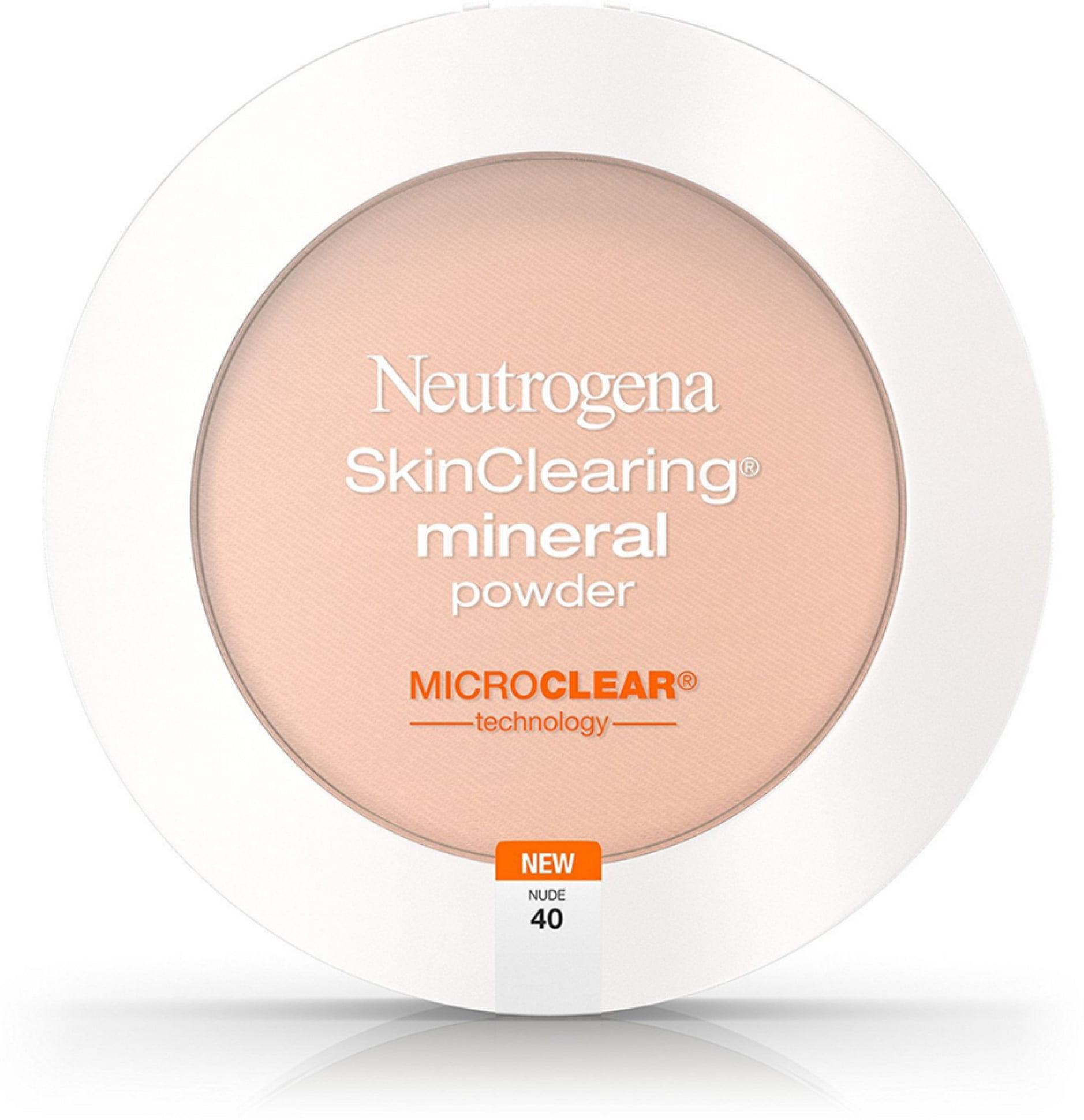 2 Pack - Neutrogena SkinClearing Mineral Powder, Nude 40 0.38 oz