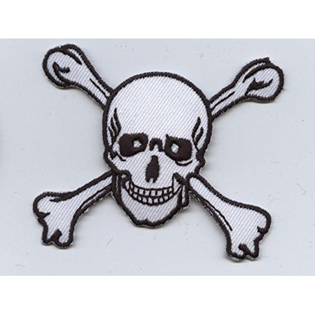 Large Skull And Crossbones Iron On Appliqueembroidered Patch