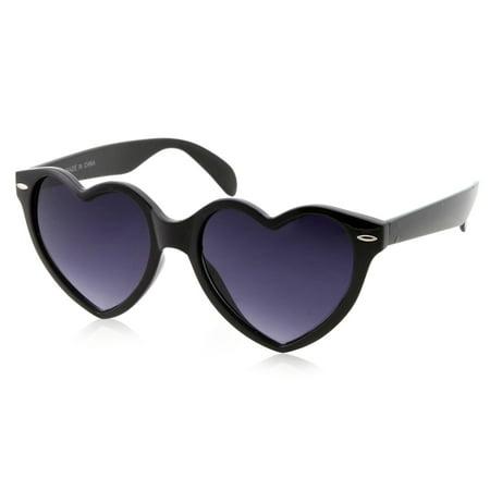 Womens Cute Sweet Heart Shape Black (Sunglasses How To Choose Face Shape)
