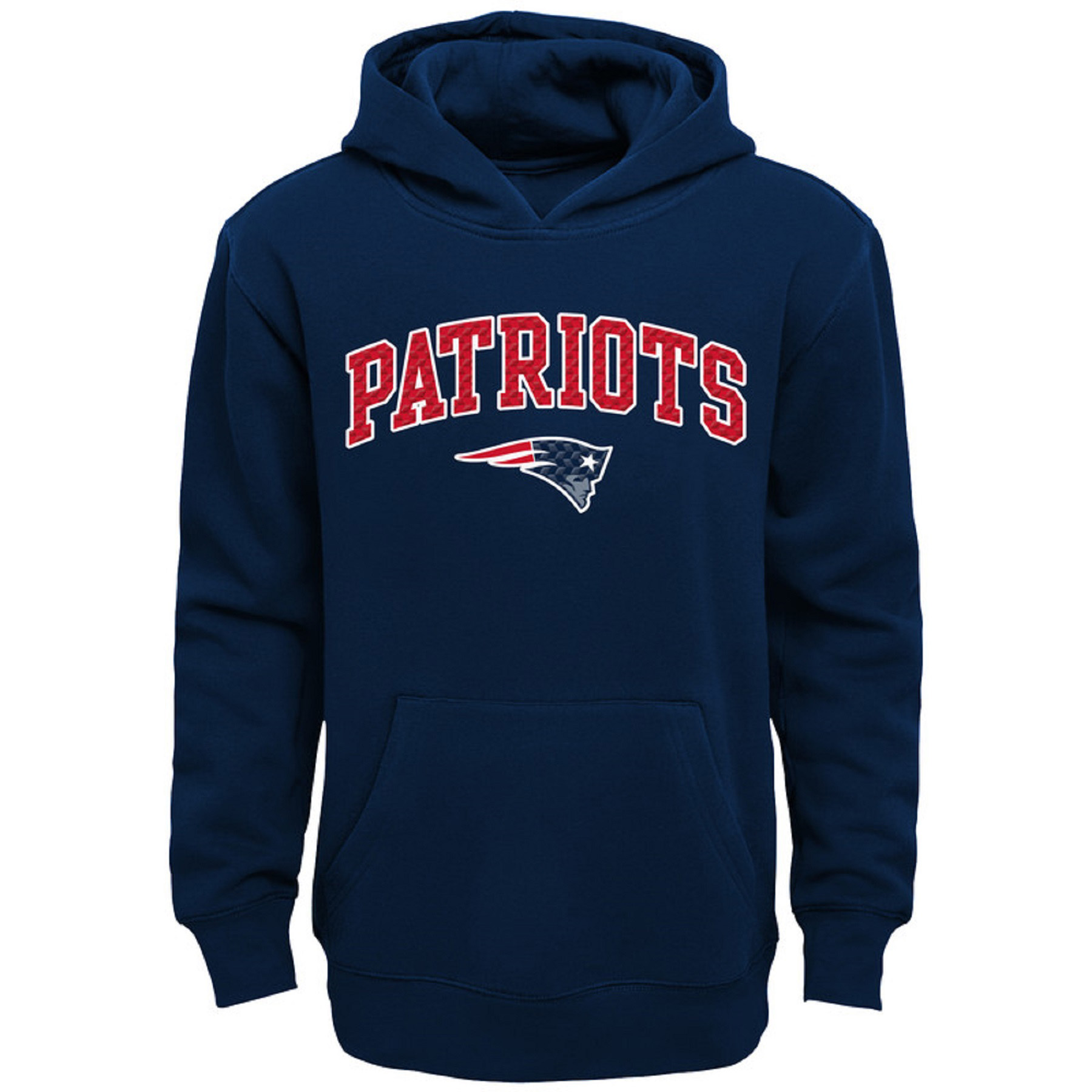 Youth Navy New England Patriots Clear Gel Fleece Hoodie
