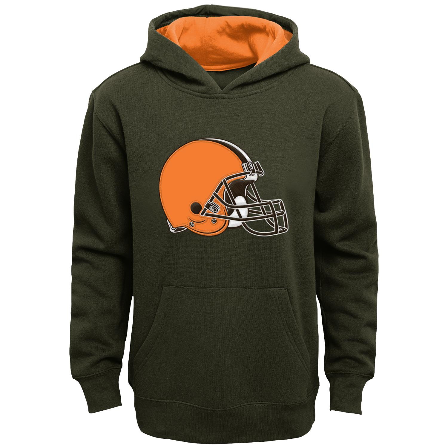 "Cleveland Browns Youth NFL ""Primary"" Pullover Hooded Sweatshirt"