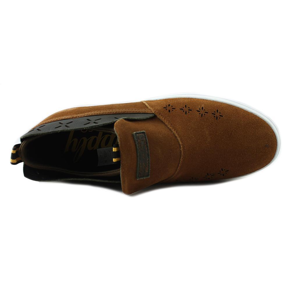 Diamond Men's Folk Slip On Brown Ankle-High Leather Fashion Sneaker - 9M