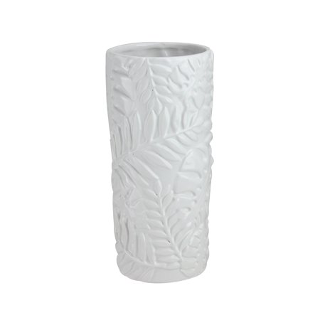 "Northlight 9.5"" Contemporary Tropical Leaf Design Ceramic Flower Vase - - Tropical Flower"