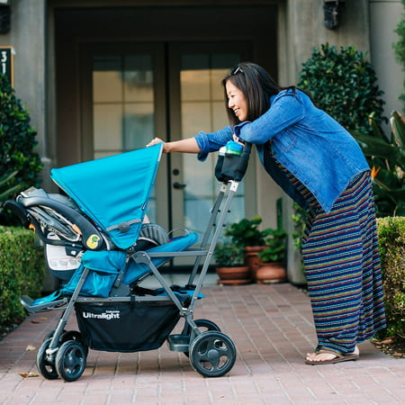 Joovy Caboose Ultralight Sit and Stand Double Stroller, Black