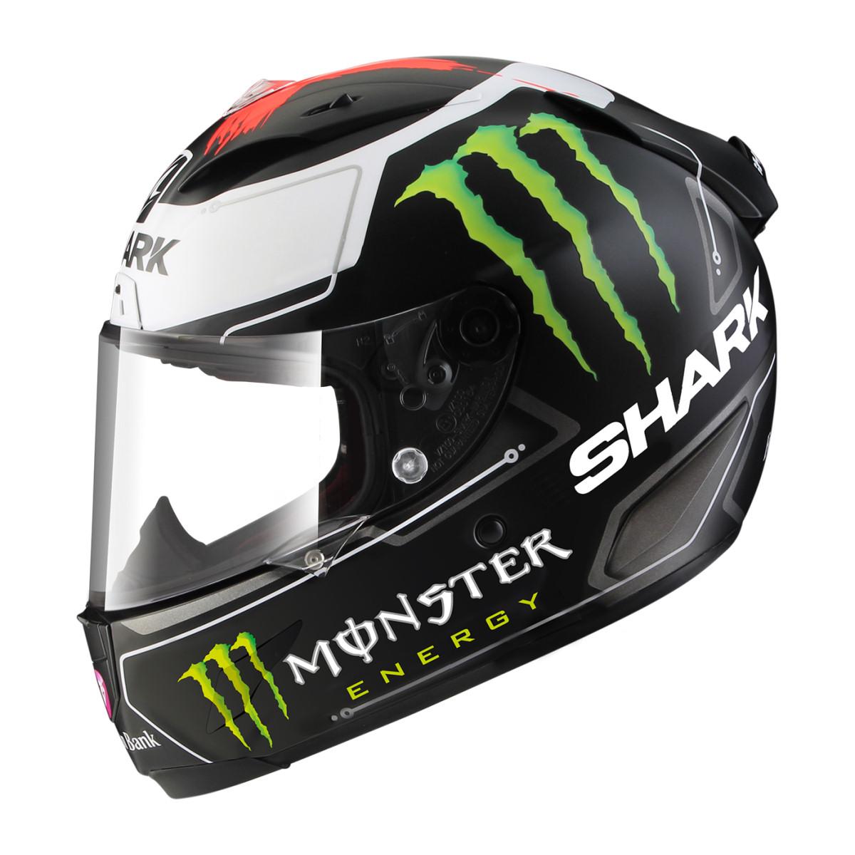 Shark Race-R Pro Replica Lorenzo Monster Motorcycle Helme...