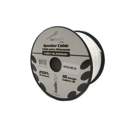 Speaker Wire 16 GA White Stranded Copper Clad 250 Feet Home Audio Surround
