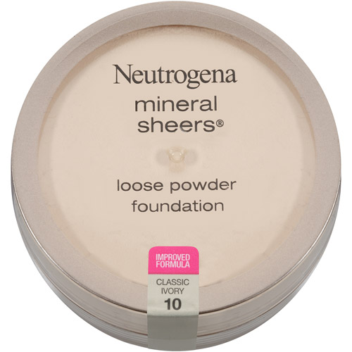 Neutrogena Mineral Sheers Loose Powder Foundation SPF 20, Classic Ivory 10, 0.19 oz