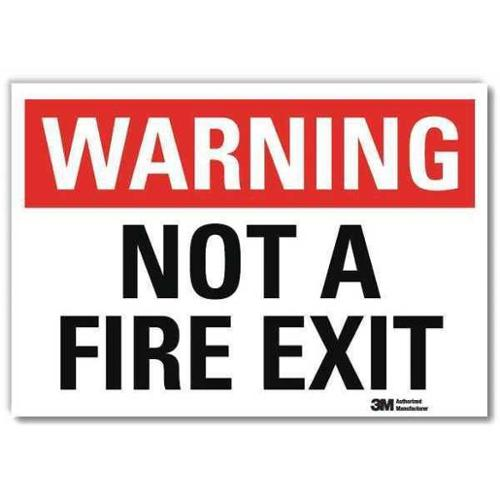 LYLE U6-1185-RD_7X5 Safety Sign,Black/White,5 in H x 7 in L G1812329