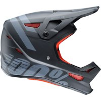 100% Status Full-Face Helmet: Black Meteor XL