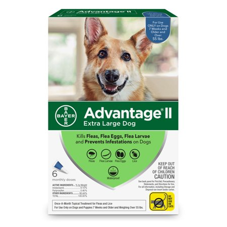Advantage II Flea Treatment for Extra Large Dogs, 6 Monthly (Dog Topical Flea Treatment)