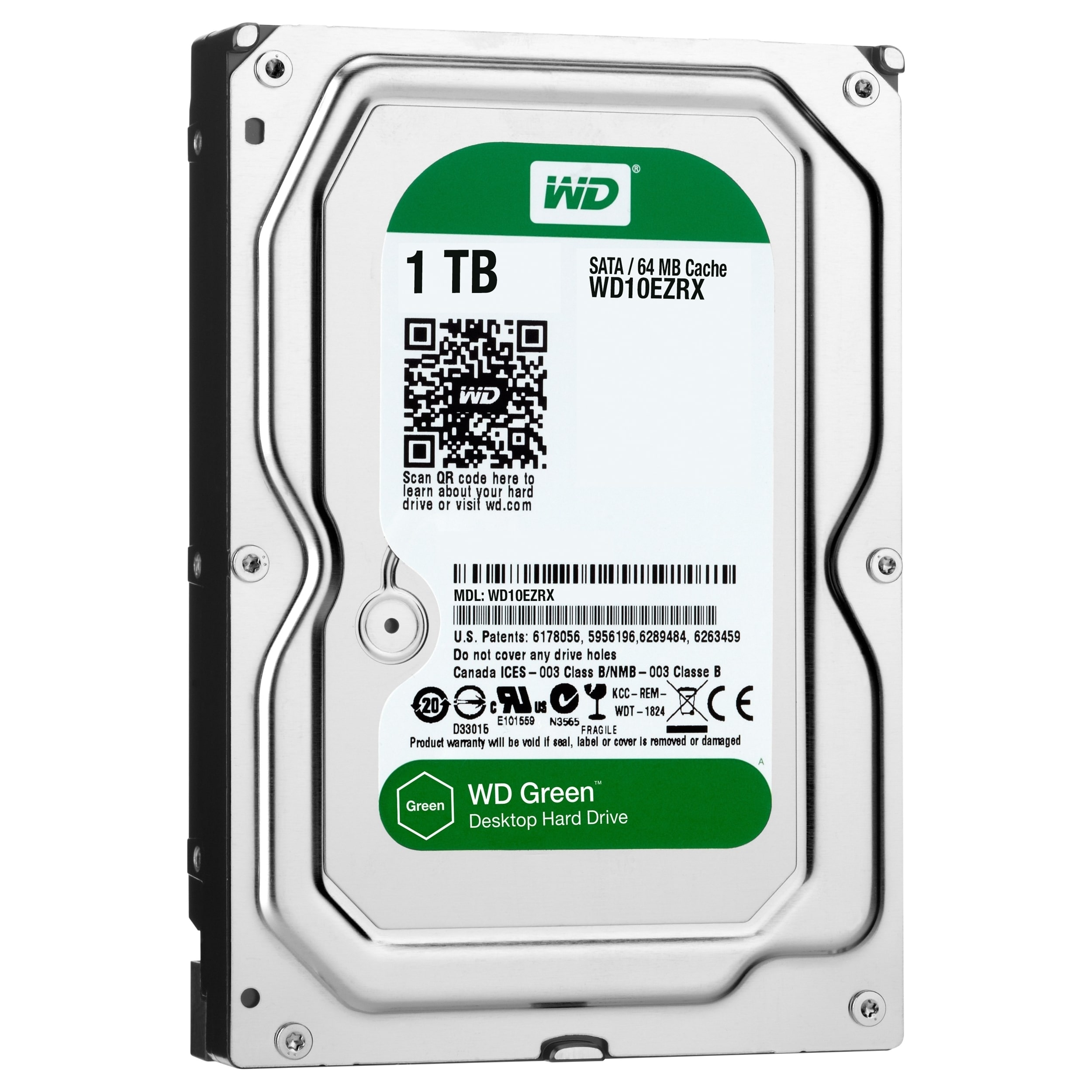 "WESTERN DIGITAL WD Green Desktop WD10EZRX 1 TB 3.5"" Internal Hard Drive"