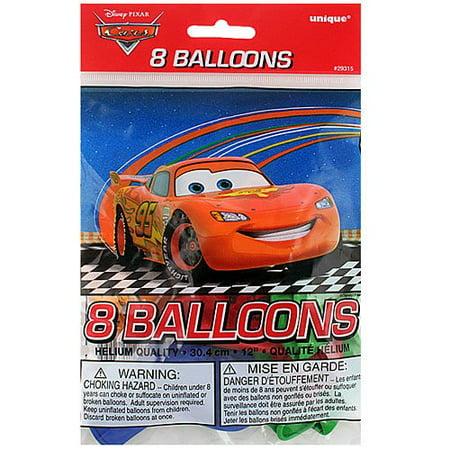 Disney Pixar Cars 2 Latex Balloons [8 Per Pack] (Disney Cars Balloons)