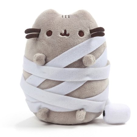 GUND Pusheen Mummy Halloween Cat Plush Stuffed Animal, Gray, 5