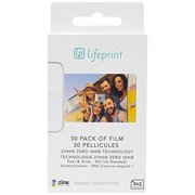 Lifeprint 30 pack of film for Lifeprint Augmented Reality Photo AND Video Printer. 2x3 Zero Ink sticky backed film