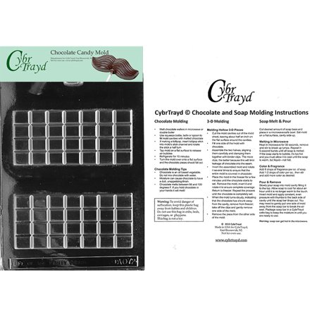 Break Apart Bar Chocolate Candy Mold with Exclusive Cybrtrayd Copyrighted Molding - Party Apart