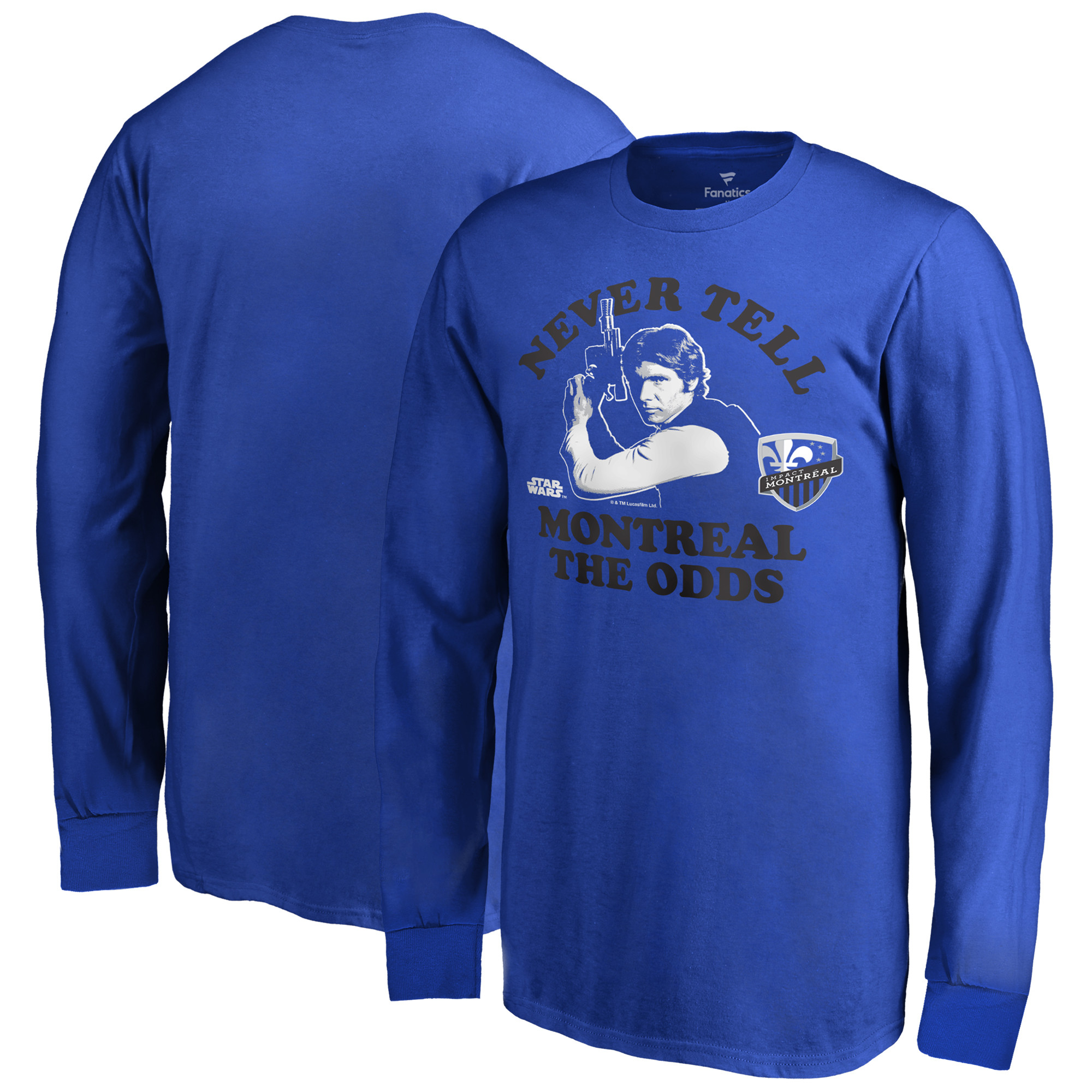 Montreal Impact Fanatics Branded Youth Star Wars Never Tell the Odds Long Sleeve T-Shirt - Royal