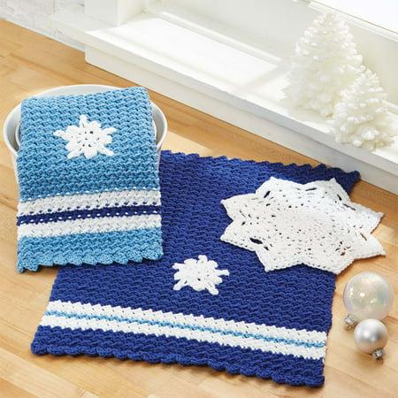Herrschners® Holiday Hostess Set Crochet Yarn Kit Crochet Knit Sew Craft