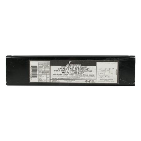 Advance 72C5582-NP Magnetic Metal Halide Ballast, 1-Lamp, 175W MH, 120/277V