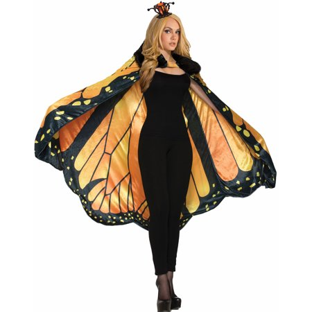Womens Monarch Butterfly Halloween Costume Cape - Butterfly Catcher Costume
