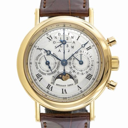 Pre-Owned Breguet Classique 5617BA Gold  Watch (Certified Authentic & Warranty) Breguet, Classique, 5617ba, Automatic Self Wind, Used, Production Year:2005, Case Material: Yellow Gold, Dial Type: Analog, Dial Color: Silver, Crystal: Synthetic Sapphire, No Box Or Papers, External Condition: Excellent,