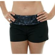 Aqua Design Women Surf Swim Bathing Suit Shorts, Royal Ripple, M